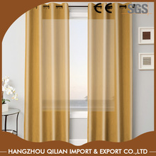 100% Polyester Top Quality Plain Faux Silk Eyelet Curtain Grommet Panels