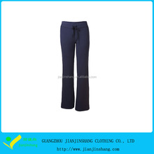 Navy Blue Cotton 4 Way Stretchy Custom Trousers Waist Adjuster Women