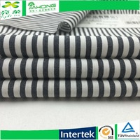 Changzhou metallic cotton poplin stripe fabric black and white