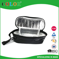 Hot sell black cooler lunch pvc bag