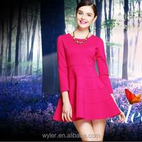 2015 New Trendy Europe Women Clothing High Quality Three Quarter Sleeve A-line Women Apparel