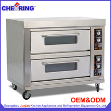 Bakery equipment OEM manufacturer 2-Deck 4-Tray Standard commercial cake baking oven for kitchen (E26B)