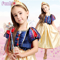 Cartoon movie snow white princess costume for childrens dress factory