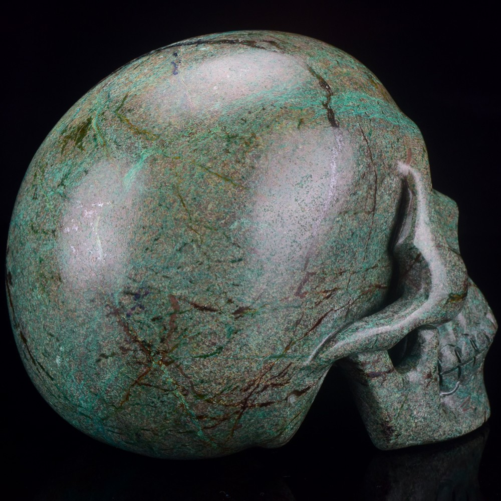5' natural carved African Turquoise crystal skull gifts, natural stones gifts
