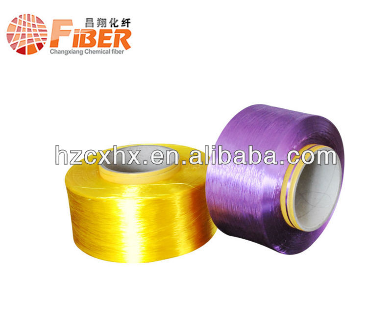 100% polyester dope dyed 150D/48F FDY polyester yarn trilobal bright yarn producer China