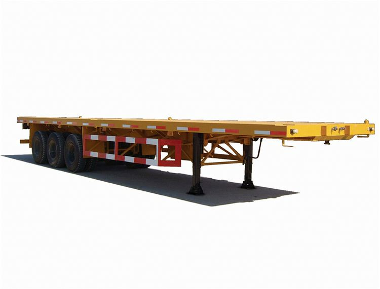 Hot Sale D-LONG flat bed container platform truck tipper trailer for transport , truck trailer used for sale germany