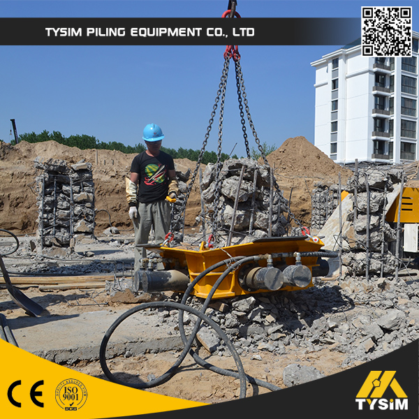 hydraulic pile breaker, KP500S, excavator spare parts, cutting machines for sale, crushing square concrete