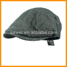 Custom Wool Flat Peaked Cap High Quality