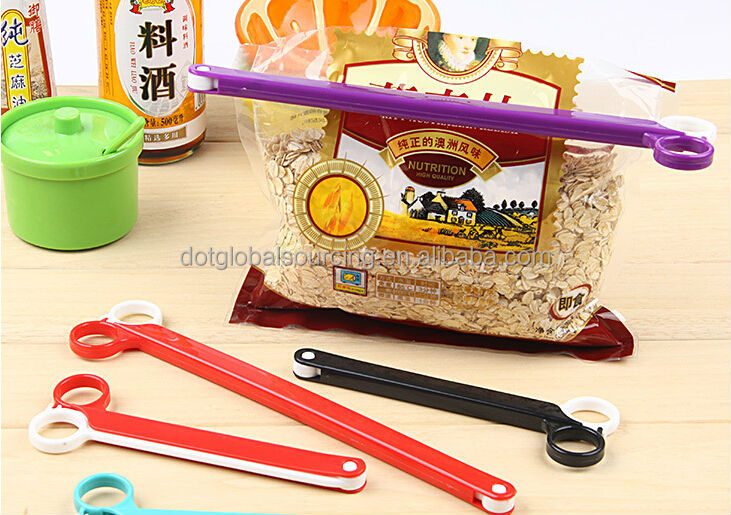 Top Quality Plastic Scissors Shaped Food Bag Storage Sealing Clip Seal Folder