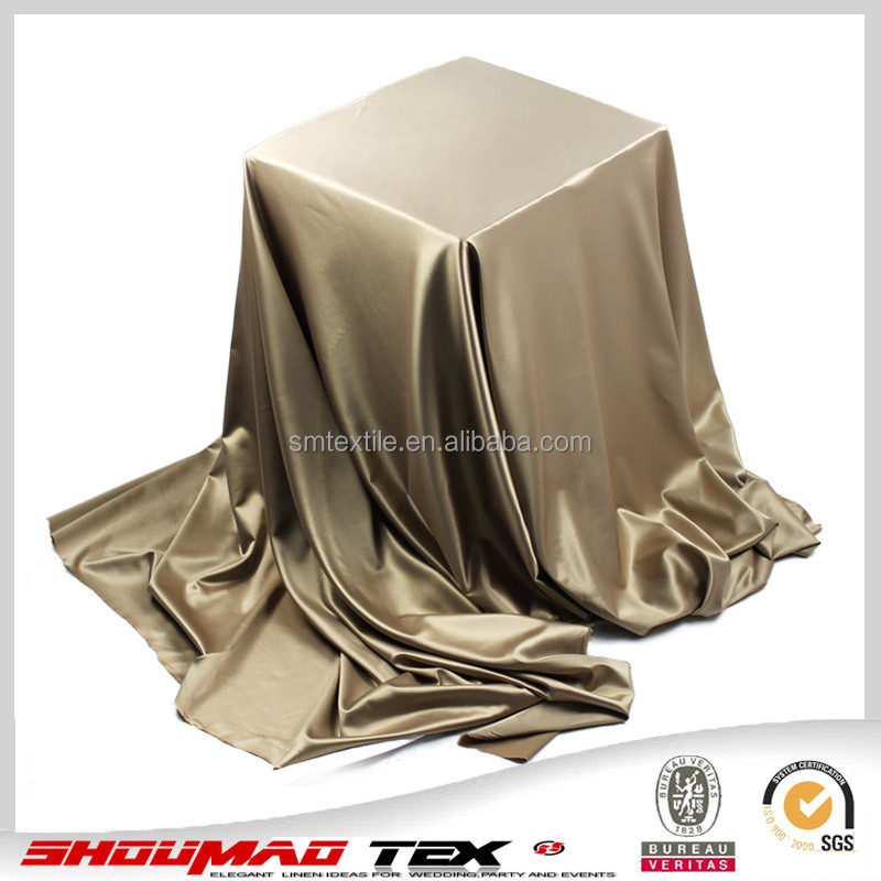 polyester silk stretch satin fabric
