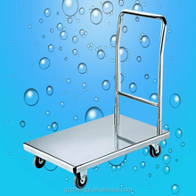Hot sales strong Stainless Steel Flatbed push cart