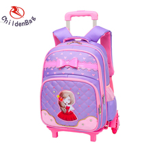 Guangzhou factory high quality detachable trolley school bags for girls kids trolley school bags of latest designs for boy