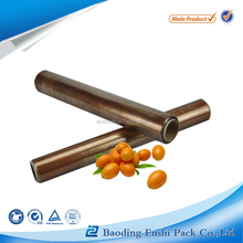 Gold colored soft PVDC cling film food wrap with free sample