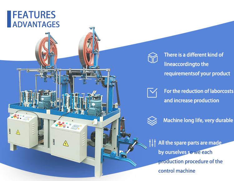 36 Carriers Wire and cable coating High Speed Braiding Machine