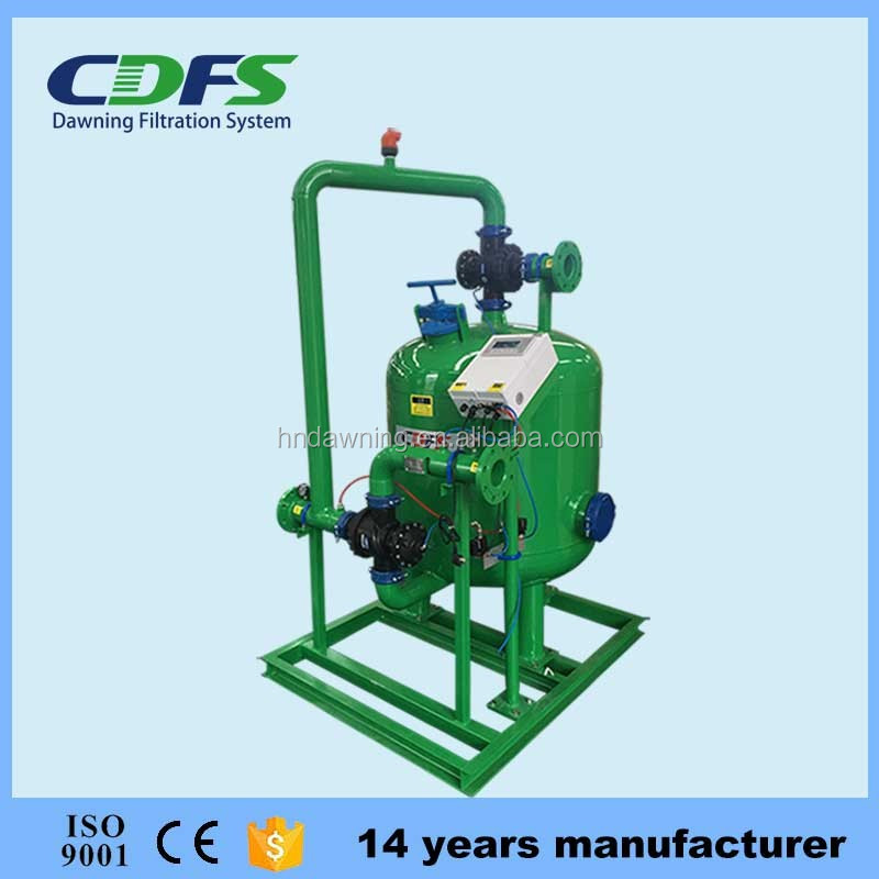 Auto backwash gravel filter for drip irrigation system