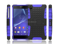 durable 2 in 1rugged armor hybrid combo kickstand phone shockproof case cover for sony xperia z2