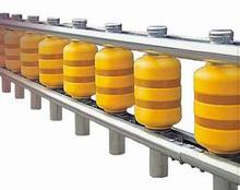 Temporary fence roller safety guardrail road barriers