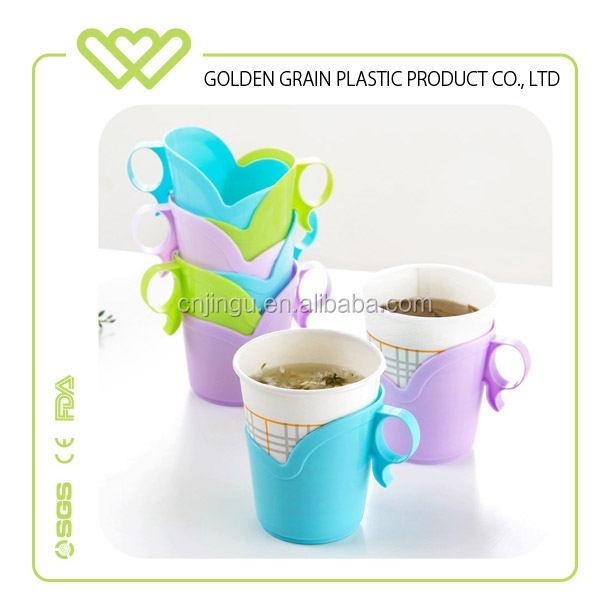 Top quality disposable portable plastic paper cup holder