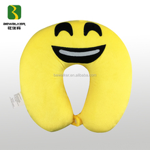 Hot-Sale U-Shape Memory Foam Emoji Pillow