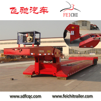 heavy duty trailer parts manufacturer 4 axle low bed trailer 100 ton / 4 axle 80 tons lowboy truck semi trailers for sale