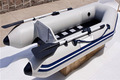 CE 330cm Cando Hypalon/PVC Inflatable slat-floor power boat fiberglass paddle boat