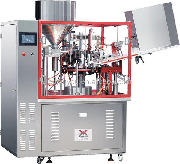 semi automatic soft tube filling sealing machine with inner heating system
