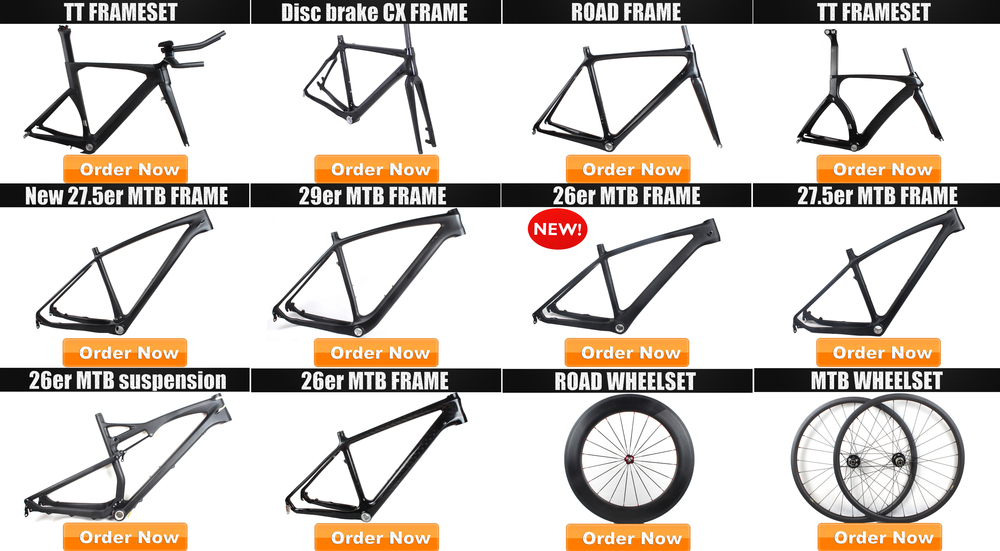 Cheap Carbon Fiber Fixed Gear Single Speed Track Bike Frame with Parts Fork + Seatpost