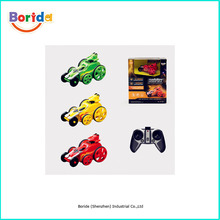 Newest mini toy car rc stunt car with colorful light for kids toy car