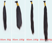 Virgin Brazilian Hair Bulk 30inch 32inch Natural Color 100g/pack