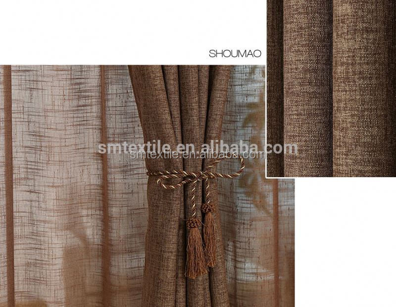 2015 design elegant burlap jute living room curtains