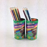 round gift tin box for pencil package pencil holder tin can