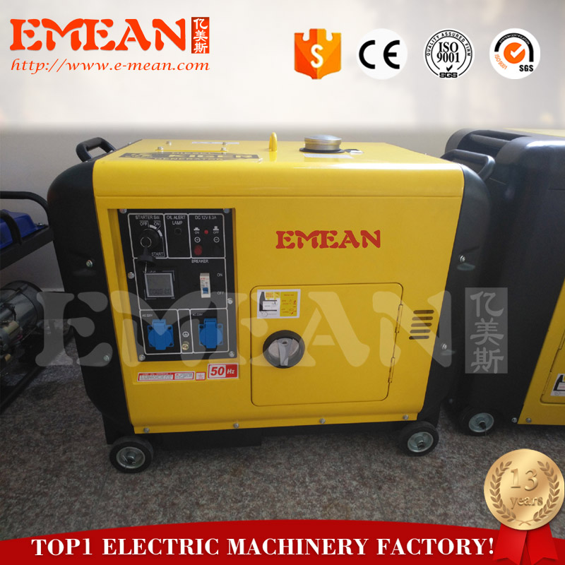wholesale price air cooled 5kw diesel generator from Chinese 16 years old factory
