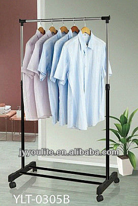 Single pole Folding garment clothes drying hanger rack