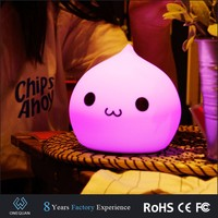 Slicone colors changing LED night light for kids wholesale
