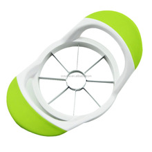 Apple Slicer,Stainless Steel Apple Corer, Anti-Slip Silicone Handle for Comfortable Grip