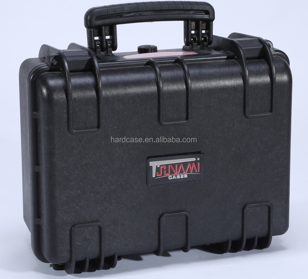 Custom logo hard plastic equipment case with similarly peli style