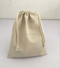 Wholesale 100% Eco Friendly small linen bag with jute strng for coffee