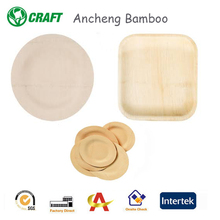 Eco-friendly Food Grade Wooden Food Serving Plates Areca Leaf Plates