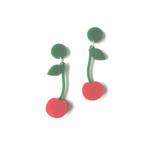 Laser Cut Beautiful Cherry Shaped Earring Acrylic Charm Earring
