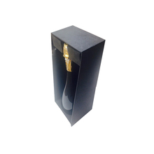 Black Magnetic Closure Rigid Champagne Bottle Gift Box