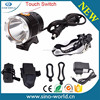 New Super Bright XML2-U2 LED High Power Safety Bicycle Front Light With Touch Switch