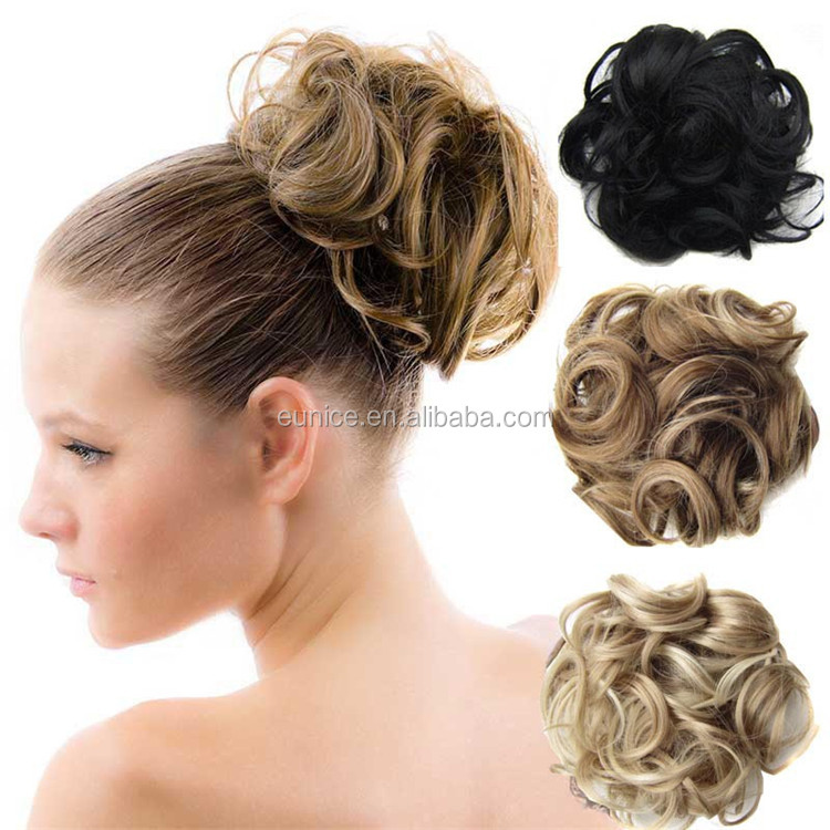 New Arrival Beautiful Synthetic Hair Bun Accessories , Big Hair Buns Cover