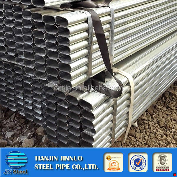 PRE-galvanized rail fence post FLAT OVAL STEEL PIPE/TUBE
