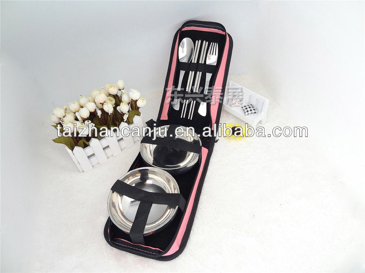Stainless steel promotional spoon fork and chopsticks