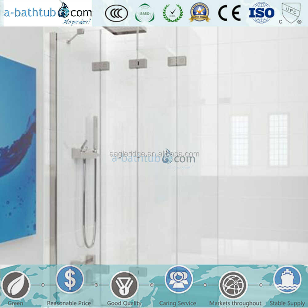 2016 Hot sale 6mm tempered glass over bath screen