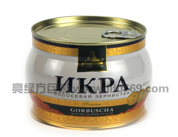 Popular caviar tin container/packaging