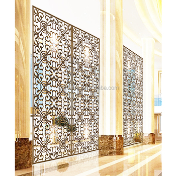Hotel outdoor metal partition luxury decorative screen panel room divider