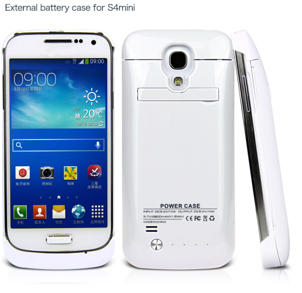 Hot sell external power battery case for Samsung galaxy S4 mini 2800mAh