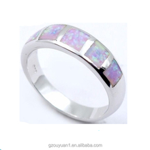 High Quality Elegant Stainless Steel Ring with Copy Opal Rings