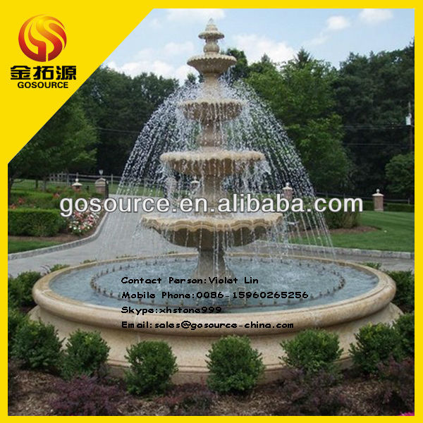 2016 hot sale garden decor granite make outdoor water fountain
